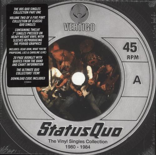 "Status Quo The Vinyl Singles Collection 1980-1984 - Sealed 7"" box set UK QUO7XTH726070"