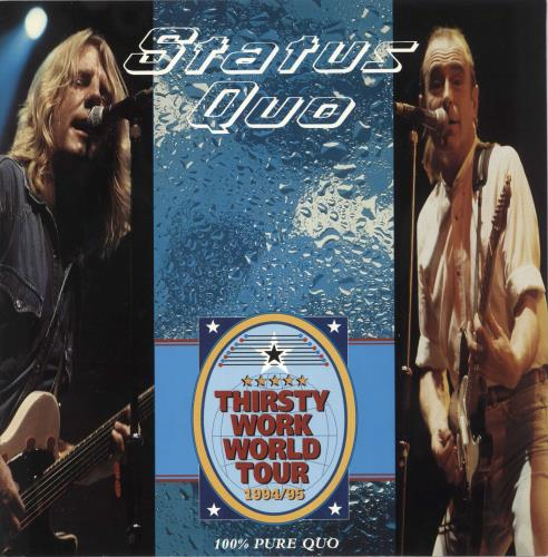 Status Quo Thirsty Work World Tour + Stub tour programme UK QUOTRTH731748