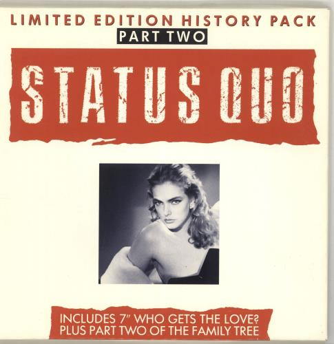 """Status Quo Who Gets The Love Part 2 7"""" vinyl single (7 inch record) UK QUO07WH28733"""