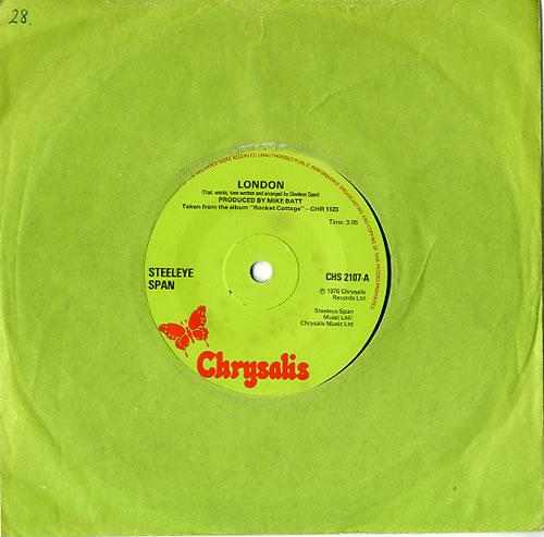 Steeleye Span London Uk 7 Quot Vinyl Single 7 Inch Record