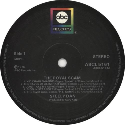 Steely Dan The Royal Scam - 2nd vinyl LP album (LP record) UK S-DLPTH171440