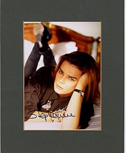 Stephanie Autographed Publicity Photograph photograph UK EPHPHAU260428