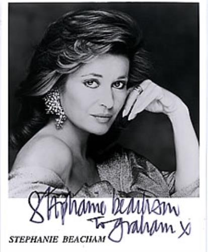 Stephanie Beacham Autographed Portrait Photograph photograph UK SB2PHAU260453