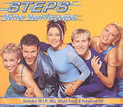 """Steps Better Best Forgotten CD single (CD5 / 5"""") UK EPSC5BE176816"""