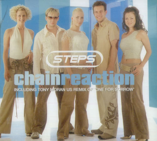 "Steps Chain Reaction CD single (CD5 / 5"") UK EPSC5CH219133"