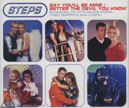 "Steps Say You'll Be Mine CD single (CD5 / 5"") Australian EPSC5SA148210"