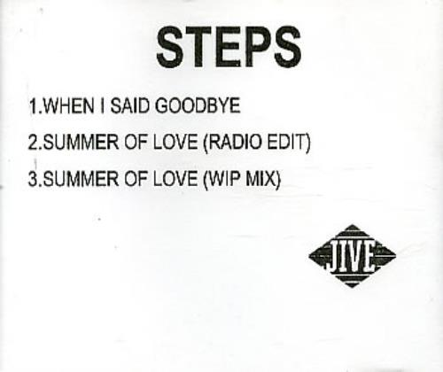 Steps When I Said Goodbye CD-R acetate UK EPSCRWH162454