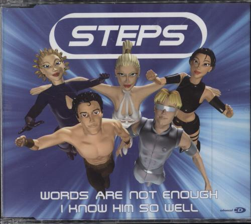 """Steps Words Are Not Enough/I Know Him So Well CD single (CD5 / 5"""") UK EPSC5WO202842"""