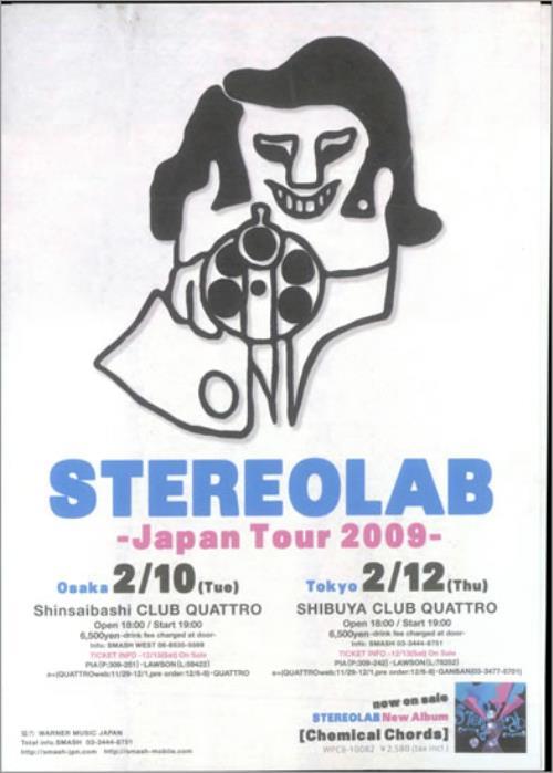 Stereolab Japan Tour 2009 handbill Japanese STBHBJA501412