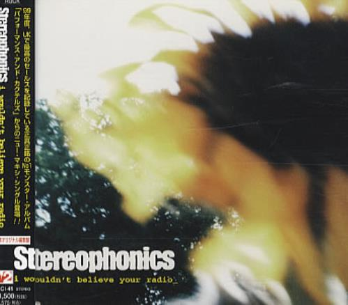 "Stereophonics I Wouldn't Believe Your Radio CD single (CD5 / 5"") Japanese OPHC5IW155335"