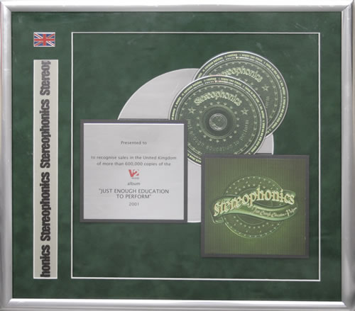 Stereophonics Just Enough Education To Perform in-house award disc UK OPHAIJU553613