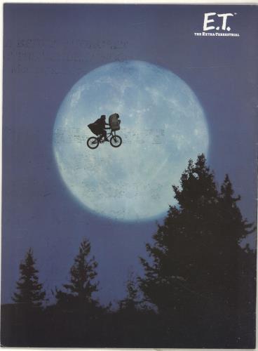 Steven Spielberg E.T. The Extra-Terrestrial tour programme UK U25TRET697346