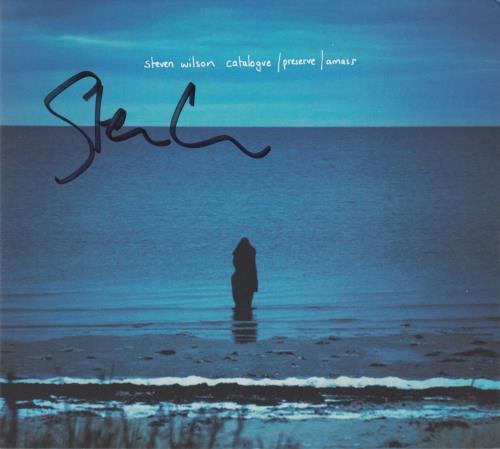 Steven Wilson Catalogue / Preserve / Amass - Autographed CD album (CDLP) UK SXWCDCA723255