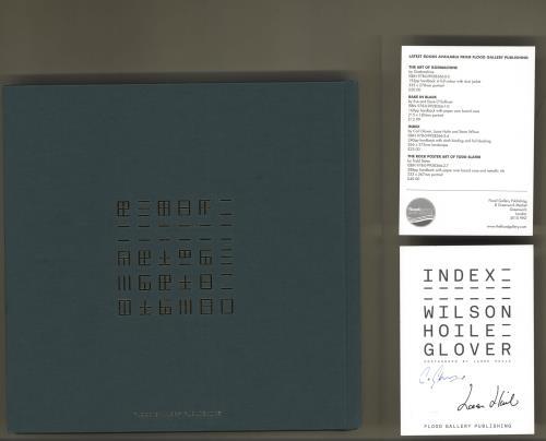 Steven Wilson Index - Green Cover + Signed Postcard book UK SXWBKIN714888