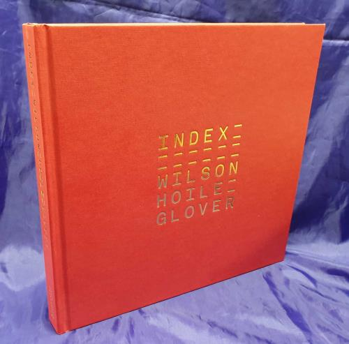 Steven Wilson Index - Red & Gold Cover + Signed Postcard book UK SXWBKIN723658