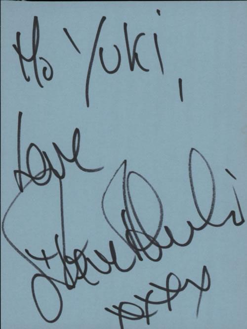 Steve Alexander Page From An Autograph Book memorabilia UK WVTMMPA608891