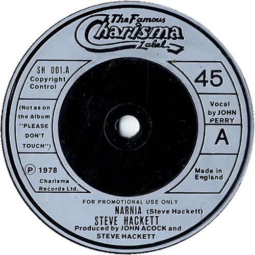 """Steve Hackett Narnia - promo 7"""" vinyl single (7 inch record) UK SVE07NA631761"""