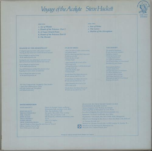 Steve Hackett Voyage Of The Acolyte - 3rd vinyl LP album (LP record) UK SVELPVO586696
