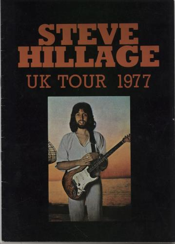 Steve Hillage UK Tour 1977 + Ticket Stub tour programme UK LLGTRUK756716