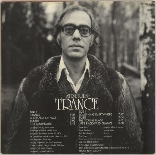 Steve Kuhn Trance vinyl LP album (LP record) German YSYLPTR692173