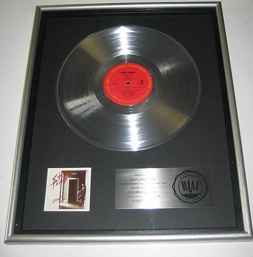 Steve Perry (Journey) Street Talk award disc US PRYAWST343311