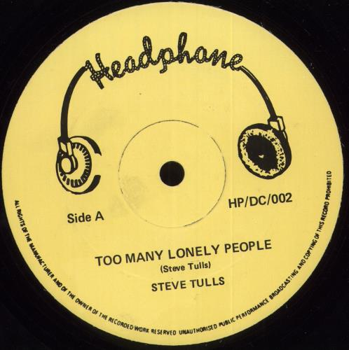"""Steve Tulls Too Many Lonely People 12"""" vinyl single (12 inch record / Maxi-single) UK Y5E12TO709421"""