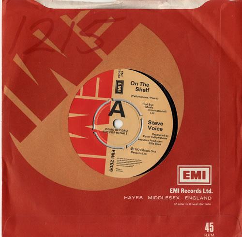 """Steve Voice On The Shelf 7"""" vinyl single (7 inch record) UK 1SV07ON599234"""