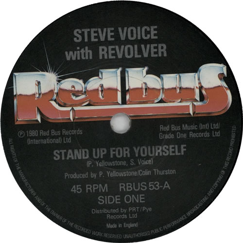 """Steve Voice Stand Up For Yourself 7"""" vinyl single (7 inch record) UK 1SV07ST633587"""