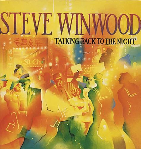 Steve Winwood Talking Back To The Night + Back Catalogue insert vinyl LP album (LP record) UK WWDLPTA334703