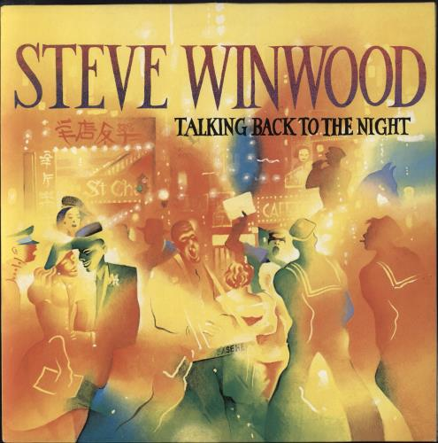 Steve Winwood Talking Back To The Night vinyl LP album (LP record) UK WWDLPTA337204