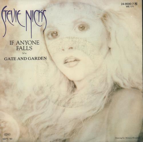 "Stevie Nicks If Anyone Falls + PR 7"" vinyl single (7 inch record) German NIC07IF667063"