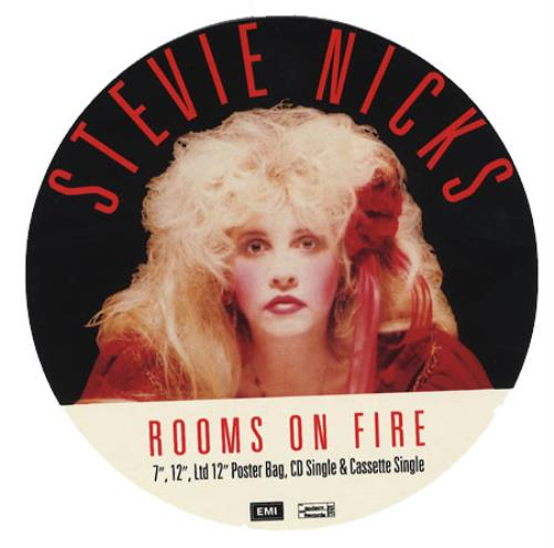 Stevie Nicks Rooms On Fire display UK NICDIRO209461
