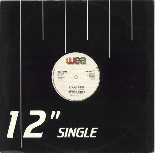 "Stevie Nicks Stand Back 12"" vinyl single (12 inch record / Maxi-single) UK NIC12ST695447"