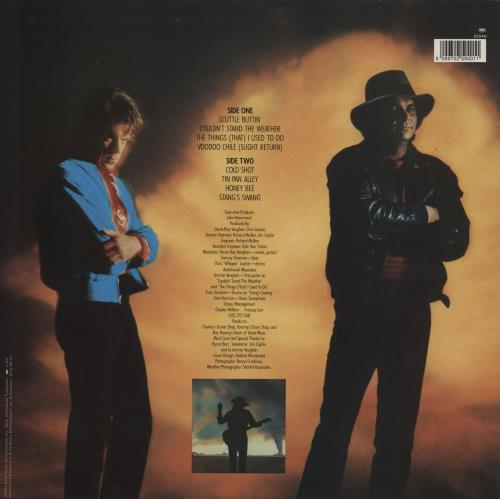 Stevie Ray Vaughan Couldn't Stand The Weather 2-LP vinyl record set (Double Album) UK SRV2LCO762995