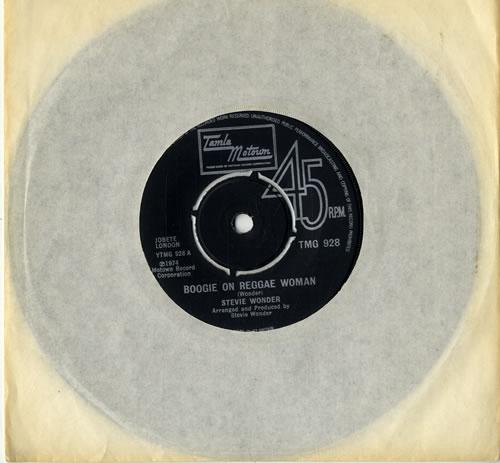 "Stevie Wonder Boogie On Reggae Woman 7"" vinyl single (7 inch record) UK STW07BO303634"