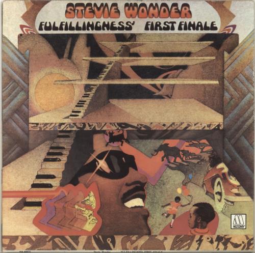 Stevie Wonder Fulfillingness Første finale portugisisk vinyl-7104