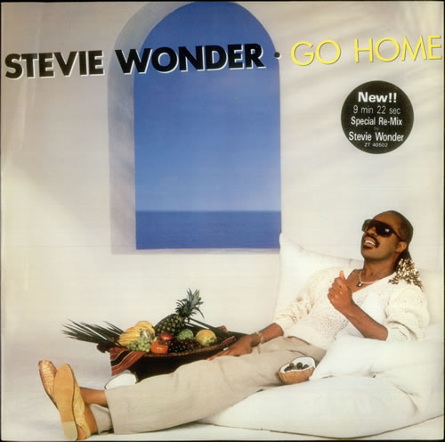 "Stevie Wonder Go Home 12"" vinyl single (12 inch record / Maxi-single) UK STW12GO545342"