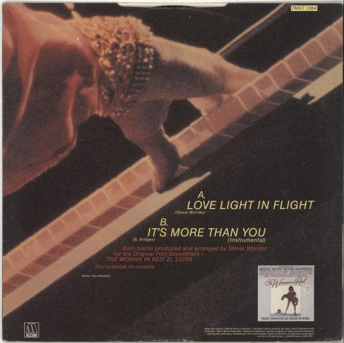"Stevie Wonder Love Light In Flight 12"" vinyl single (12 inch record / Maxi-single) UK STW12LO192626"
