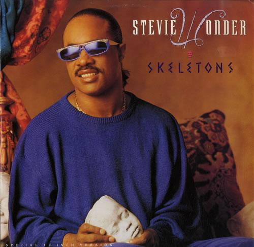 "Stevie Wonder Skeletons 12"" vinyl single (12 inch record / Maxi-single) UK STW12SK192956"