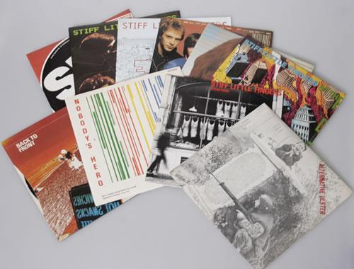 "Stiff Little Fingers Collection of 10 x 7"" Vinyl Singles 7"" vinyl single (7 inch record) UK SFI07CO568489"