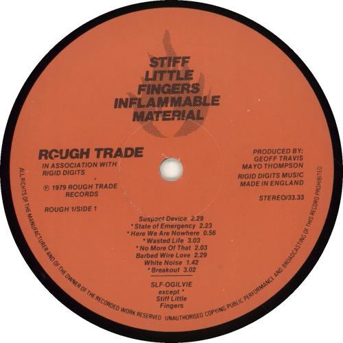 Stiff Little Fingers Inflammable Material - 2nd vinyl LP album (LP record) UK SFILPIN696911