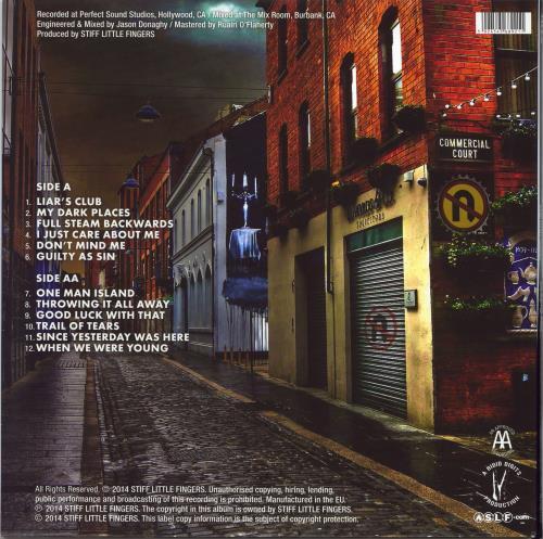 Stiff Little Fingers No Going Back - Black Vinyl + Autographed Gatefold Sleeve vinyl LP album (LP record) UK SFILPNO768567