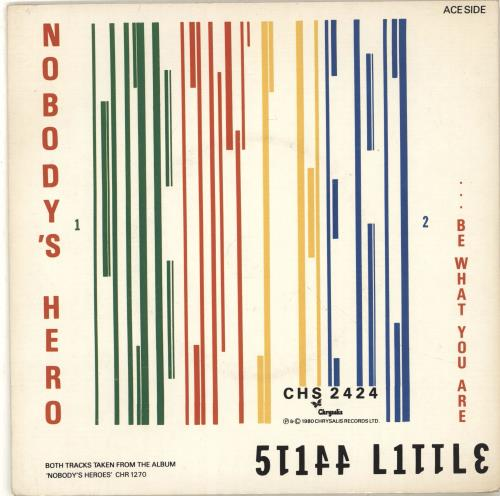 "Stiff Little Fingers Nobody's Hero / Tin Soldiers + Sleeve 7"" vinyl single (7 inch record) UK SFI07NO594553"