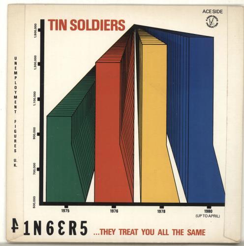 "Stiff Little Fingers Nobody's Hero / Tin Soldiers + Sleeve 7"" vinyl single (7 inch record) UK SFI07NO594553"