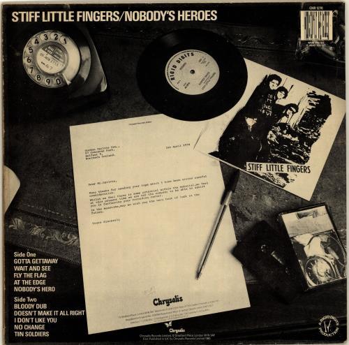 Stiff Little Fingers Nobody's Heroes - EX vinyl LP album (LP record) UK SFILPNO704910