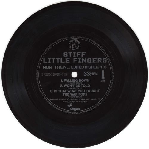 "Stiff Little Fingers Now Then... Edited Highlights - Flexi 7"" vinyl single (7 inch record) UK SFI07NO105402"