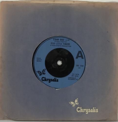 "Stiff Little Fingers Straw Dogs 7"" vinyl single (7 inch record) UK SFI07ST688243"