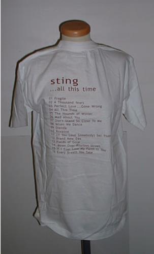 Sting ... All This time Tuscany 2001 t-shirt Taiwanese STITSAL227669