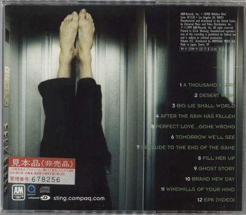 Sting Brand New Day + Obi CD album (CDLP) Japanese STICDBR709307