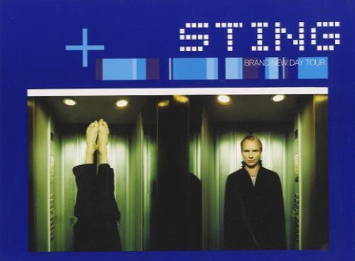 Sting Brand New Day + Ticket stub tour programme UK STITRBR160729